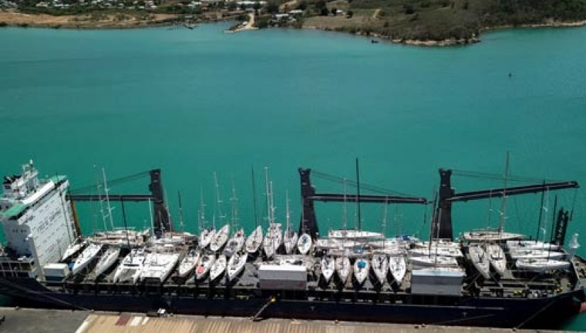 Peters and May's record 52 yacht sailing on MV Kingfisher from the Caribbean