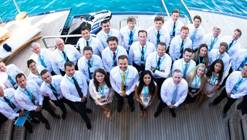Burgess team at Monaco Yacht Show