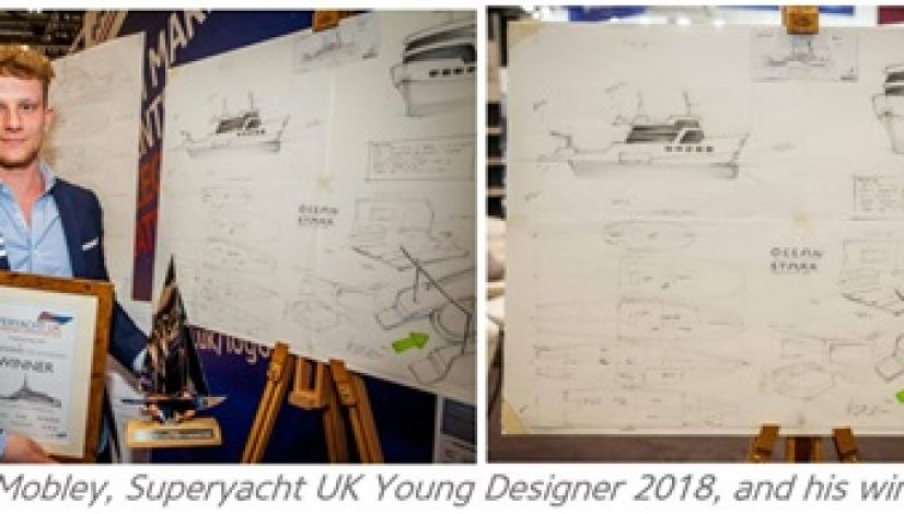 Christopher Mobley, Superyacht UK Young Designer 2018 and his winning design