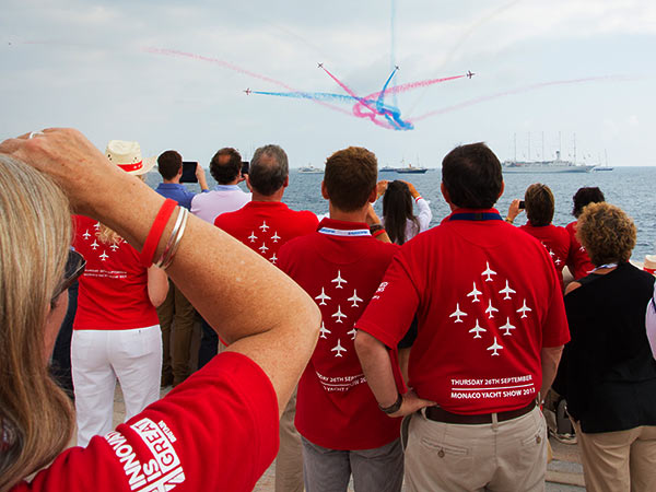 Red Arrows at the Superyacht UK organised Monaco Yacht Show display