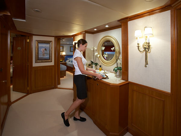 Chief Stewardess on a superyacht