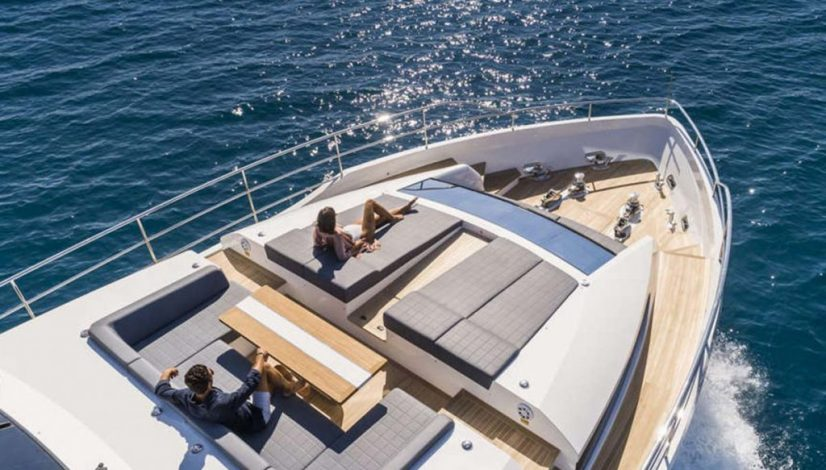 Pearl Yachts foredeck