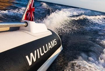 Williams logo on tube of jet tender